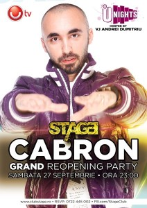 Stage Grand Reopening - Cabron - 27SEPT