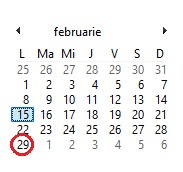 29 februarie an bisect