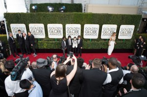 Caleb McLaughlin, Finn Wolfhard, Noah Schnapp and Gaten Matarazzo attends the 74th Annual Golden Globes Awards at the Beverly Hilton in Beverly Hills, CA on Sunday, January 8, 2017.